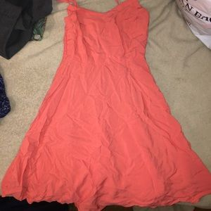 peach/salmon colored dress